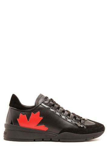 Dsquared2 Maple Leaf Design Lace-Up Sneakers