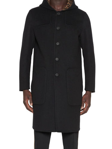 Fendi Reversible Hooded Coat