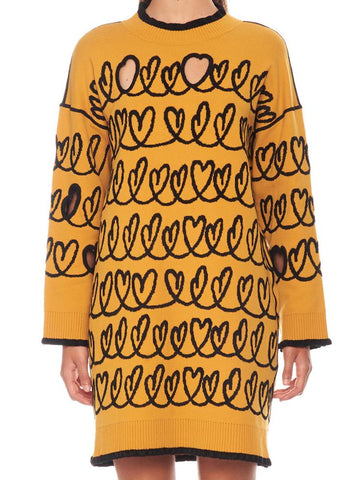 Fendi Inlay Hearts Knitted Dress