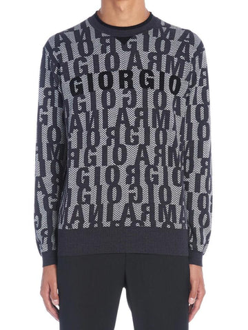 Giorgio Armani All Over Logo Sweater