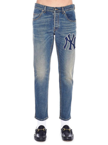 Gucci NY Yankees Cropped Jeans