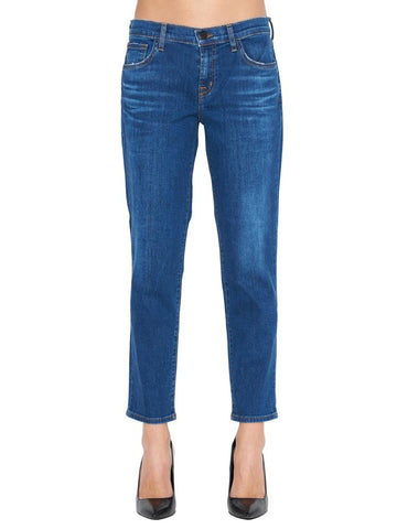 J Brand Distressed Slim-Fitted Jeans