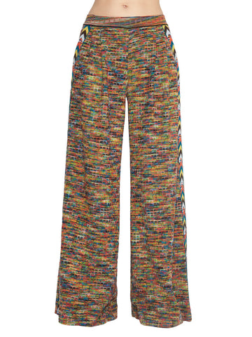 Missoni Multicoloured Side Band Flare Trousers