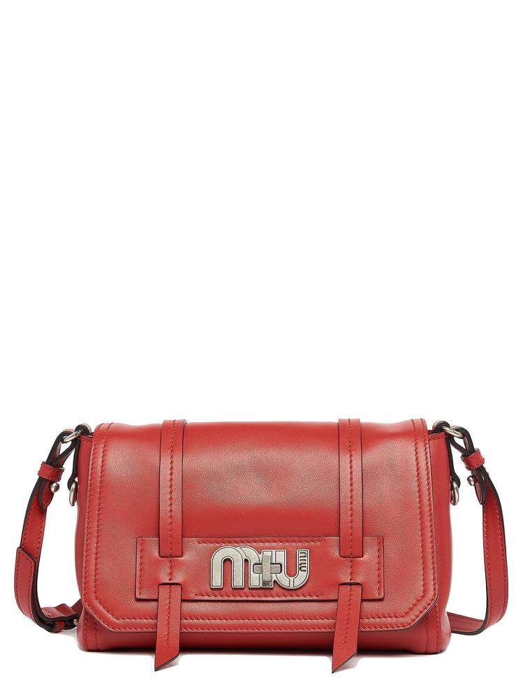 1dfe9dbc0b37 Miu Miu Grace Lux Leather Shoulder Bag In Red