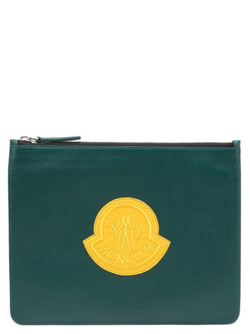 Moncler Basic Logo Patch Clutch