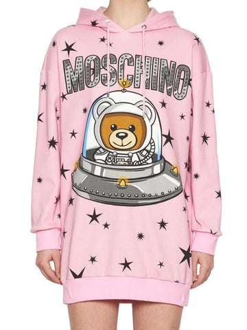Moschino Space Teddy Hoodie Dress