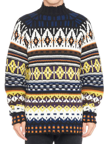 MSGM Intarsia High-Neck Sweater