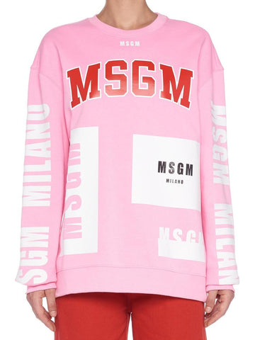 MSGM All Over Logo Sweatshirt