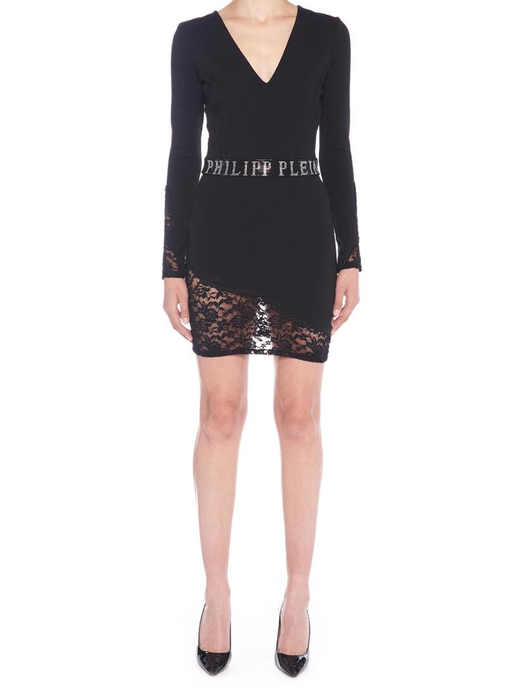Philipp Plein PHILIPP PLEIN LEACE MINI DRESS