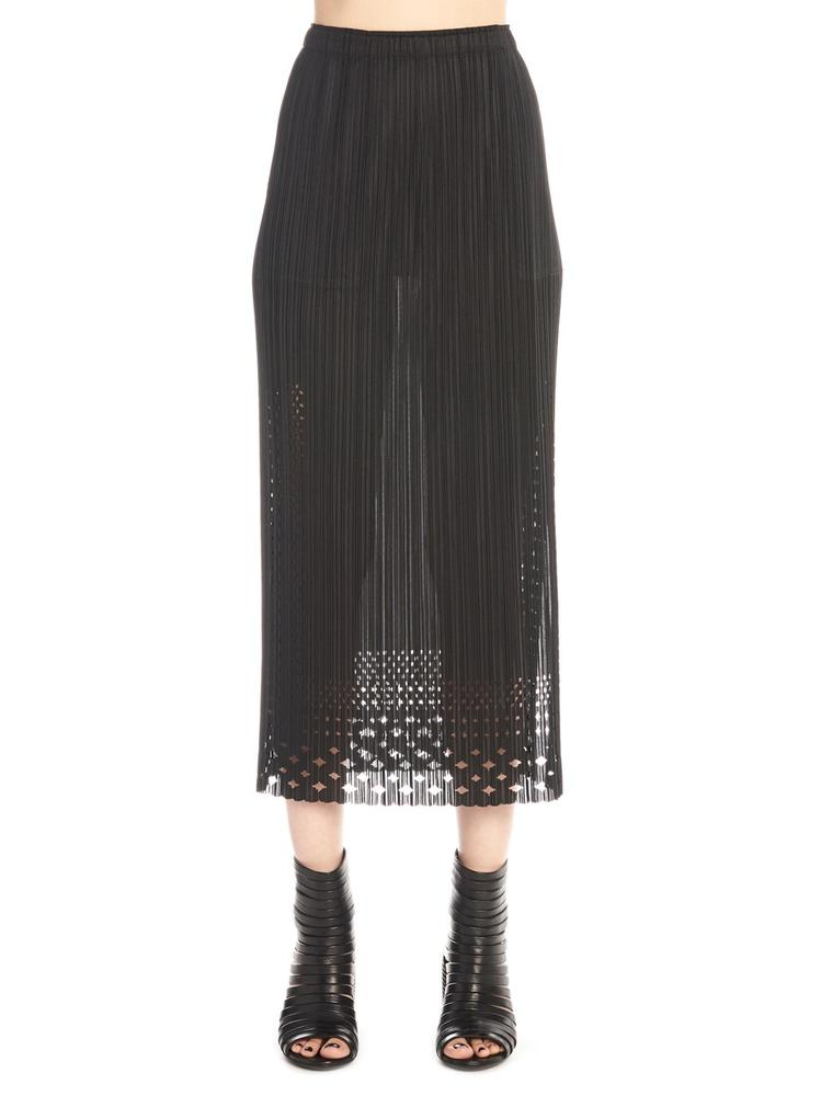 Pleats Please Issey Miyake PLEATS PLEASE BY ISSEY MIYAKE PLEATED LACE MIDI SKIRT
