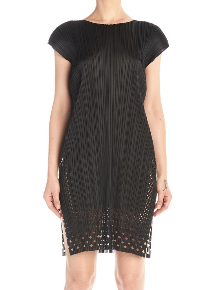 Pleats Please Issey Miyake PLEATS PLEASE BY ISSEY MIYAKE PLEATED LACE DRESS