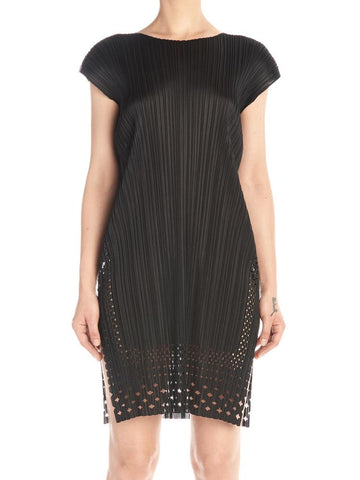 Pleats Please By Issey Miyake Pleated Lace Dress