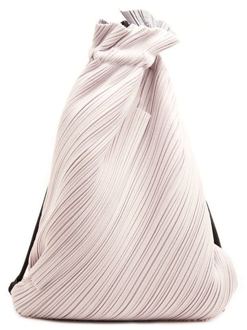 Pleats Please By Issey Miyake Suede Link Drawstring Backpack