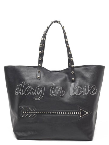 Red Valentino Stay In Love Tote Bag