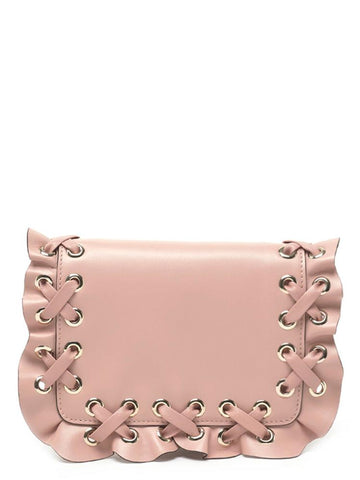 Red Valentino Rock Ruffle Clutch