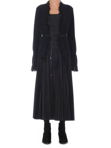 Sacai Belted Pleated Long Dress