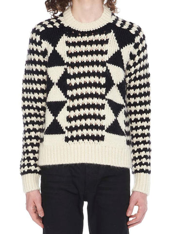 Saint Laurent Graphic Knitted Jumper