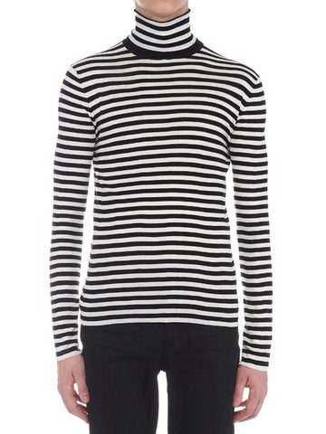 Saint Laurent Turtleneck Striped Sweater