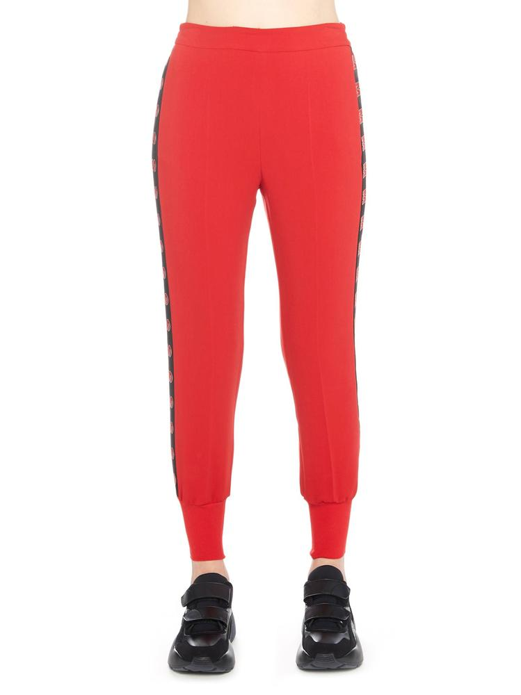 e56d8a349662a8 Stella Mccartney Logo Tape Relaxed Pants In Red