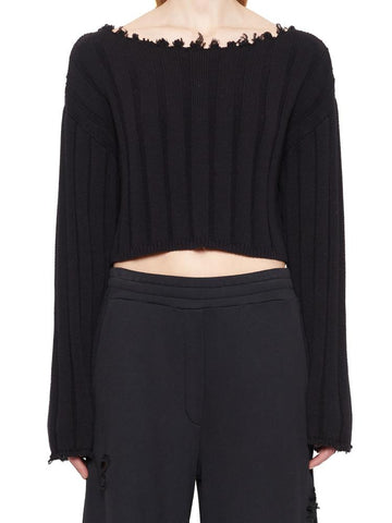 T By Alexander Wang Raw Edge Sweater