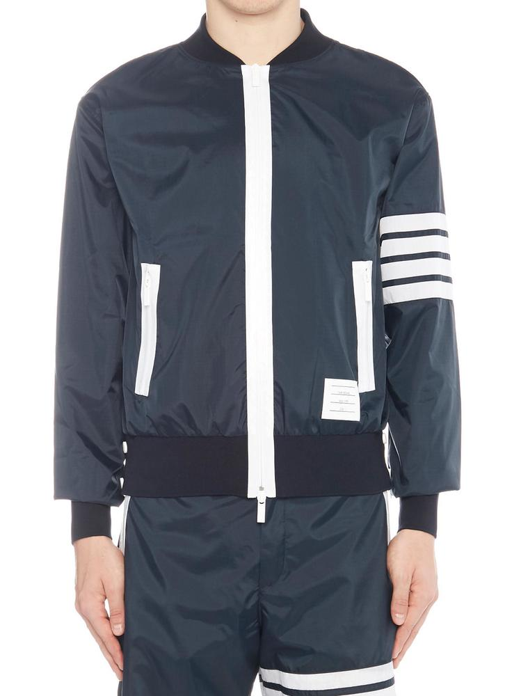 a26e4683672 Thom Browne Optic 4 Bar Bomber Jacket – Cettire