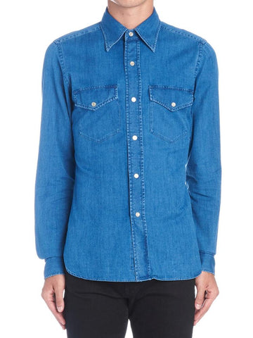 Tom Ford Chest Pockets Denim Shirt