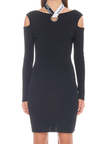 Versus Cut-Out Shoulder Fitted Mini Dress