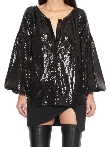 Wandering Sequinned Oversized Blouse