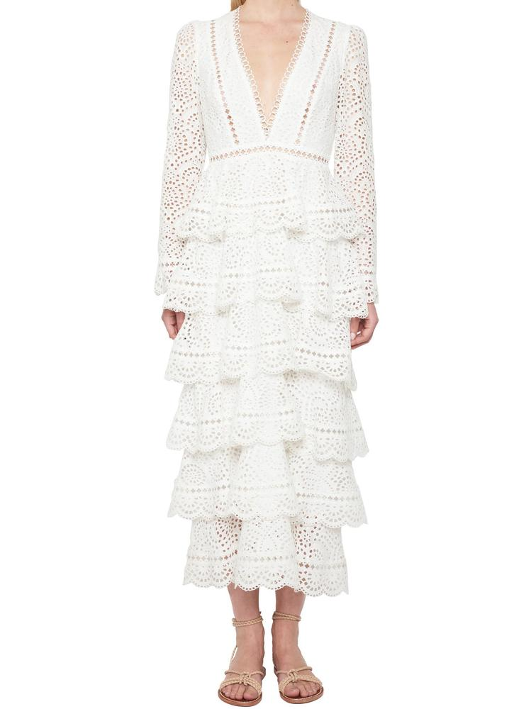 ZIMMERMANN LACE LAYERED DRESS