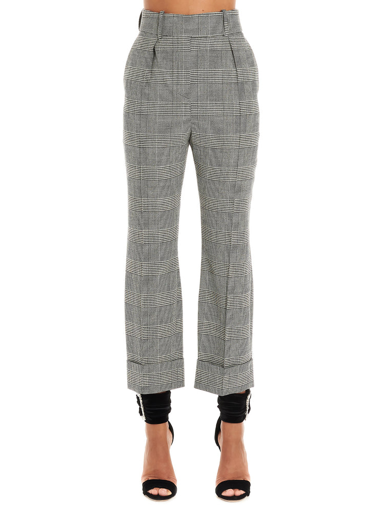 Alexandre Vauthier Pants ALEXANDRE VAUTHIER CHECKED CROPPED PANTS
