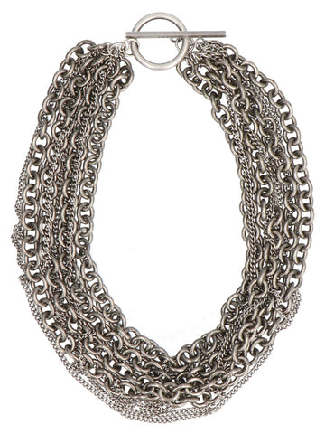 Ann Demeulemeester Chains Detail Choker Necklace