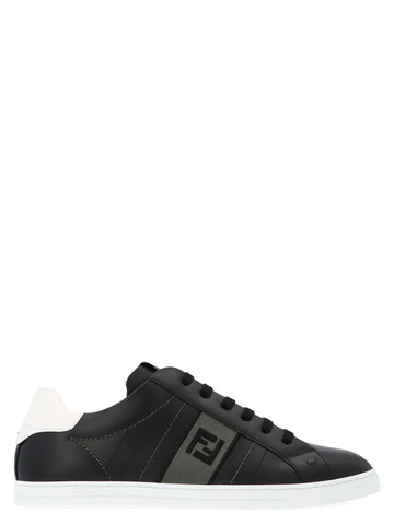 Fendi Logo Lace-Up Sneakers