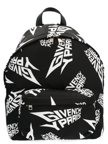 Givenchy All Over Logo Print Backpack