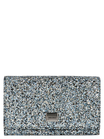 Jimmy Choo Lizzie Glitter Chain Clutch Bag