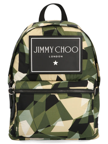 Jimmy Choo Wilmer Camouflage Print Backpack