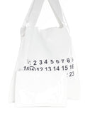 Maison Margiela Transparent Number Motif Shopper Tote Bag