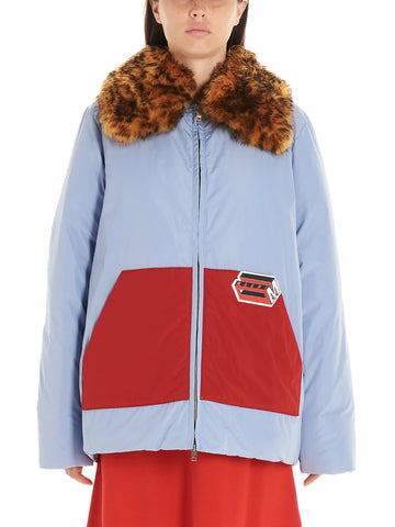 Marni Logo Patch Colour Block Padded Jacket