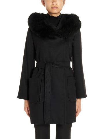 Max Mara Studio Hooded Belted Coat
