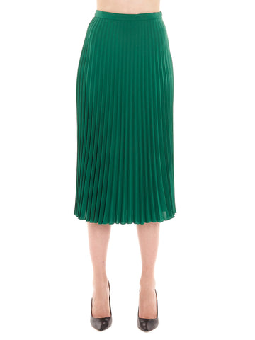 Max Mara Studio Pleated Cady Skirt