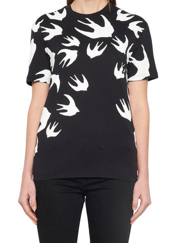 McQ Alexander McQueen Swallows Printed T-Shirt
