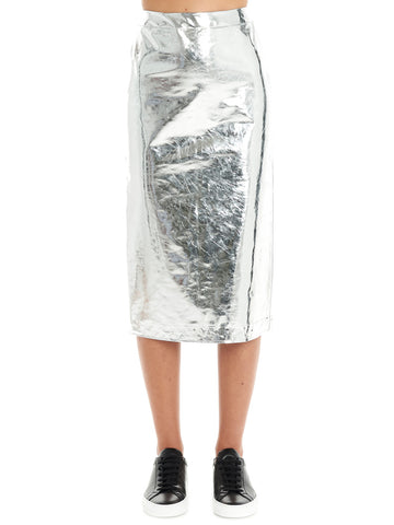 McQ Alexander McQueen Mirror Kick Back Skirt