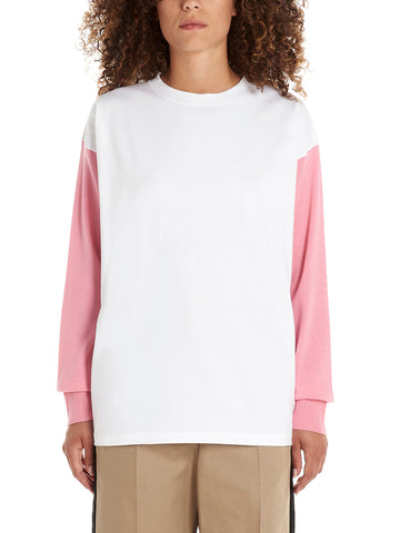 Mm6 Maison Margiela Colour Block Logo Long Sleeve T-Shirt