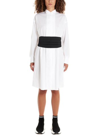 Mm6 Maison Margiela Pleated Oversized Shirt Dress