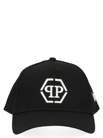Philipp Plein Monogram Embroidered Cap