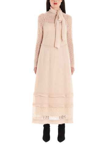 Red Valentino Pussy Bow Knitted Dress