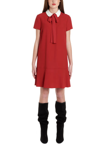 Red Valentino Pussybow Dress