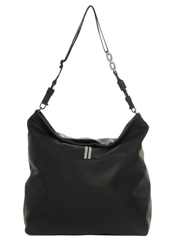 Rick Owens Draped Stripe Detail Shoulder Bag