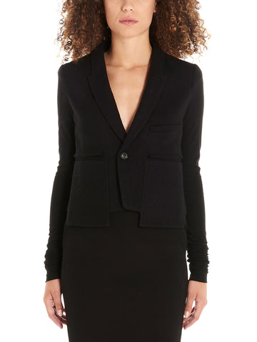 Rick Owens Asymmetric Fitted Blazer