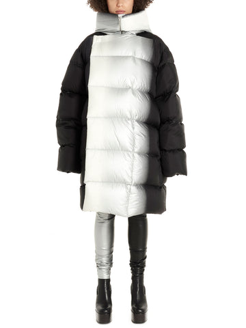 Rick Owens Two-Tone Hooded Puffer Jacket