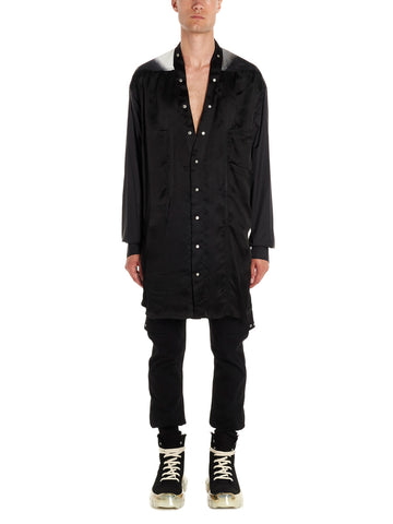 Rick Owens Oversized Two-Tone Shirt